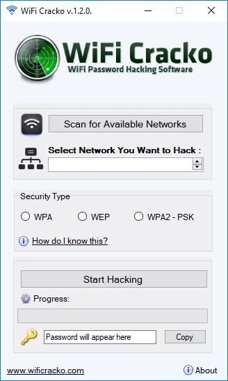 WiFi Cracko hack tool