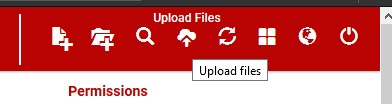 upload files option